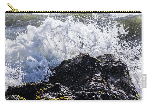 California Coast Wave Crash 4 Carry-all Pouch