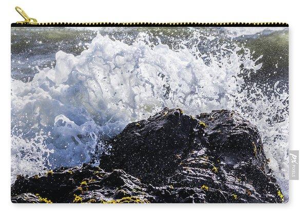 California Coast Wave Crash 4 Carry-all Pouch