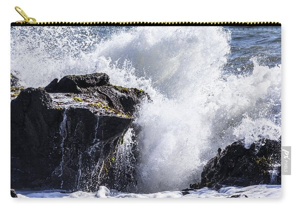 California Coast Wave Crash 6 Carry-all Pouch