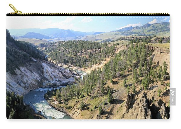 Calcite Springs Along The Bank Of The Yellowstone River Carry-all Pouch