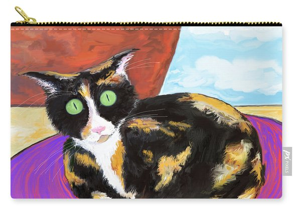 Calico Cat On A Rug  Carry-all Pouch