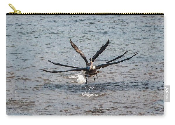 California Brown Pelicans Flying In Tandem Carry-all Pouch
