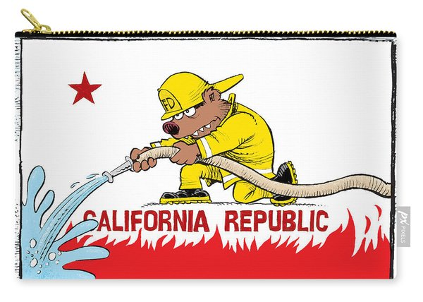 California Firefighter Flag Carry-all Pouch