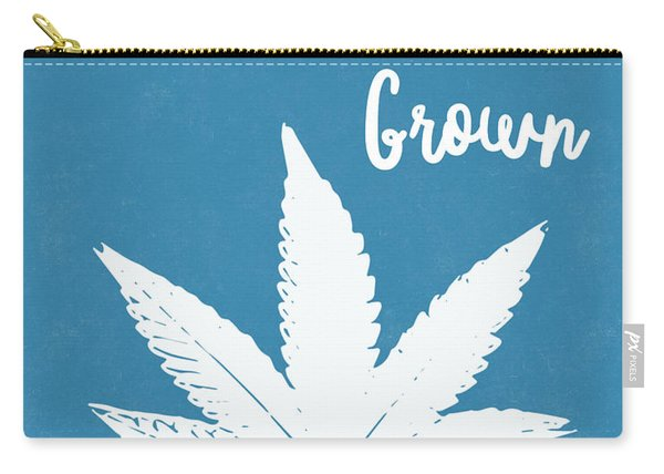 California Grown Cannabis- Art By Linda Woods Carry-all Pouch