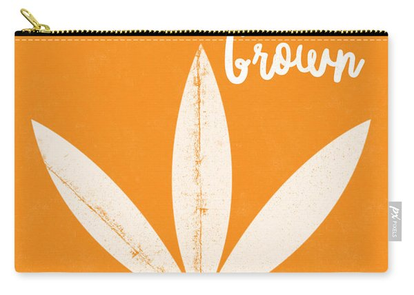 California Grown Cannabis Orange- Art By Linda Woods Carry-all Pouch