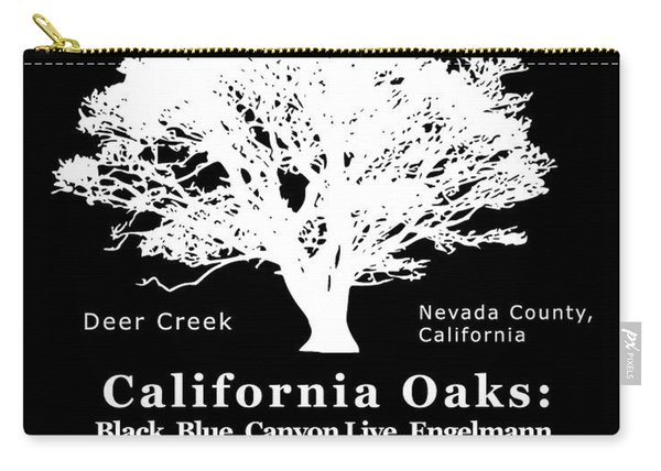 California Oak Trees - White Text Carry-all Pouch