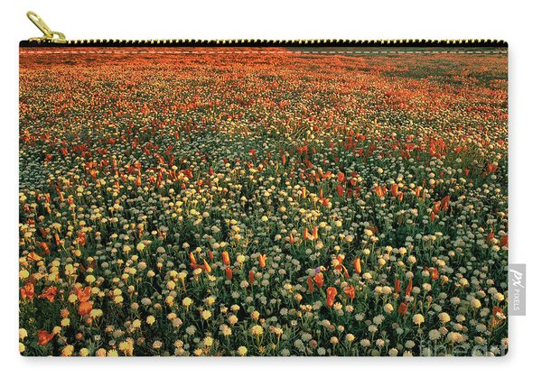 California Poppies At Dawn Lancaster California Carry-all Pouch