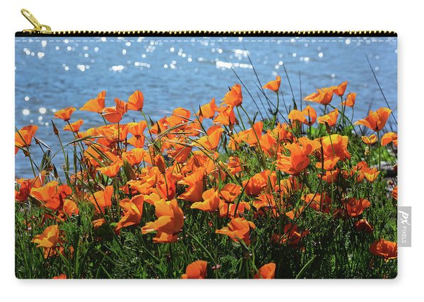 California Poppies By Richardson Bay Carry-all Pouch