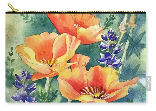 California Poppies In Bloom Carry-all Pouch