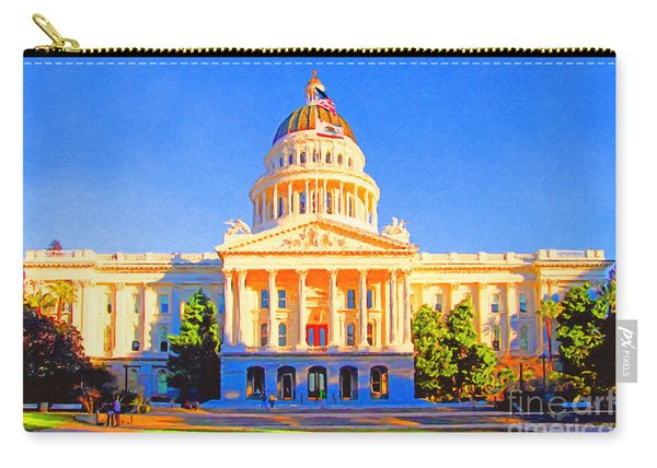California State Capitol . Painterly Carry-all Pouch