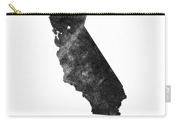 California State Map Art - Grunge Silhouette Carry-all Pouch