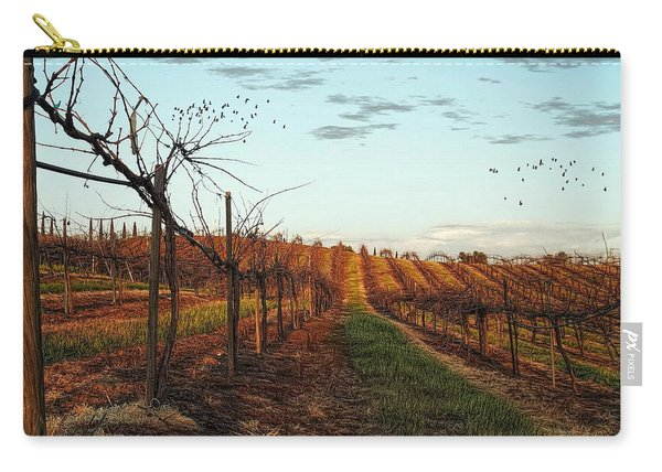 California Vineyard In Winter Carry-all Pouch