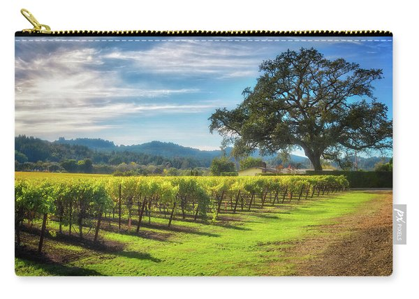 California Wine County - Sonoma Vineyard And Lone Oak Tree Carry-all Pouch