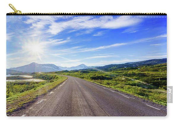 Carry-all Pouch featuring the photograph Call Of The Road by Dmytro Korol