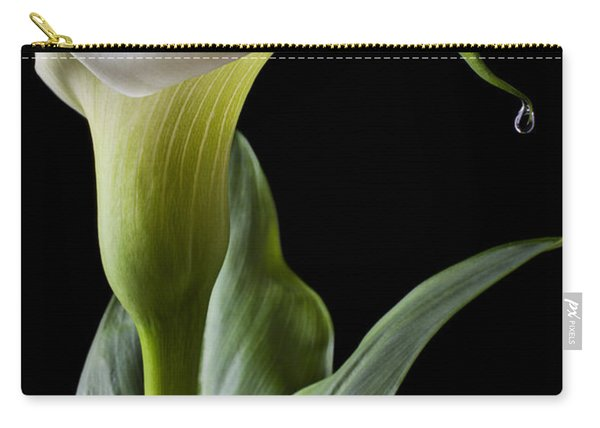Calla Lily With Drip Carry-all Pouch