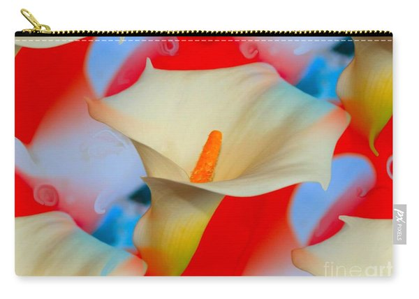 Splashy Calla Lilies Carry-all Pouch
