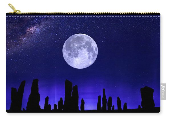 Callanish Stones Under The Supermoon.  Carry-all Pouch