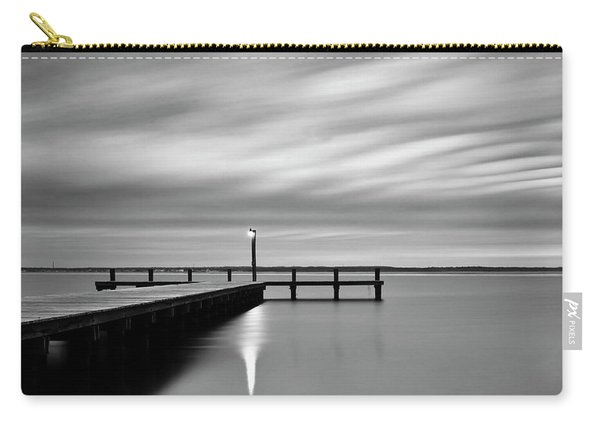 Calm Barnegat Bay New Jersey Black And White Carry-all Pouch