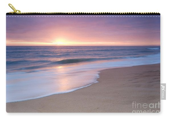 Calm Beach Waves During Sunset Carry-all Pouch