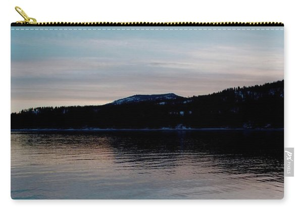 Calm Blue Lake Carry-all Pouch