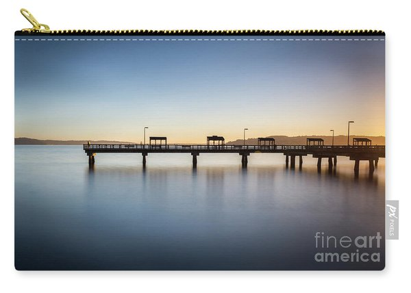 Calm Morning At The Pier Carry-all Pouch