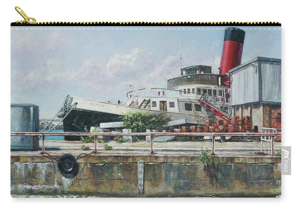 Carry-all Pouch featuring the painting Calshot Tug Boat At Southampton Docks by Martin Davey