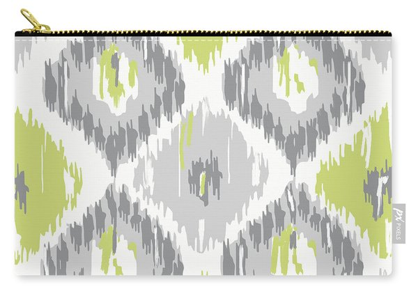 Calyx Ikat Pattern Carry-all Pouch