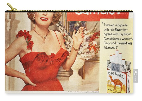 Camel Cigarette Ad, 1951 Carry-all Pouch