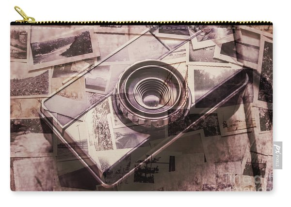 Camera Of A Vintage Double Exposure Carry-all Pouch