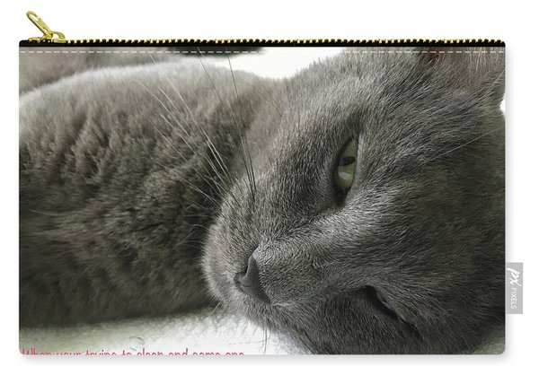 Carry-all Pouch featuring the photograph Resting Face by Debbie Cundy