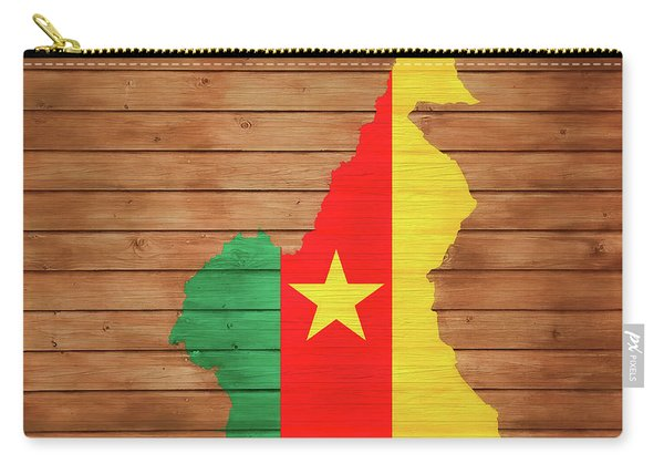 Cameroon Rustic Map On Woo Carry-all Pouch