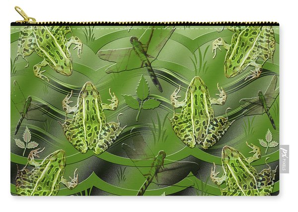 Camo Frog Dragonfly Carry-all Pouch