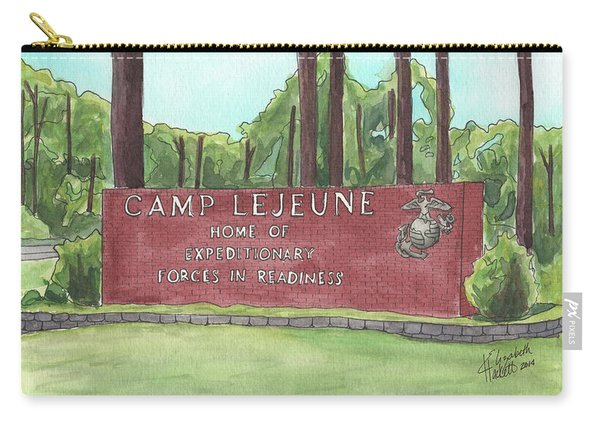 Camp Lejeune Welcome Carry-all Pouch
