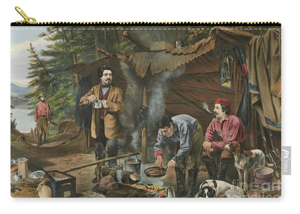 Camping In The Woods  A Good Time Coming Carry-all Pouch