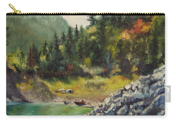 Camping On The Lake Shore Carry-all Pouch