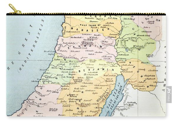 Canaan As It Was Divided Between The Twelve Tribes Of Israel Carry-all Pouch