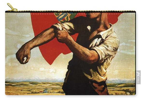 Canada - Canadian Pacific Railway - Flag - Retro Travel Poster - Vintage Poster Carry-all Pouch