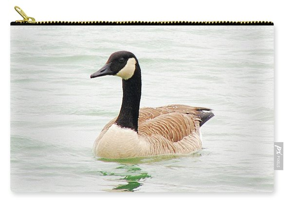 Carry-all Pouch featuring the photograph Canada Goose by Loretta Nash