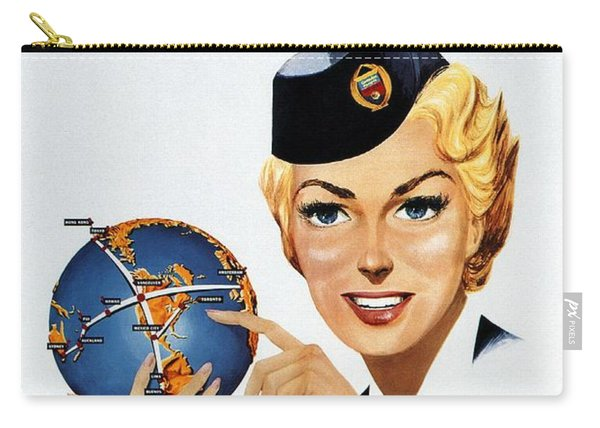 Canadian Pacific Airlines - Straight To The Point - Retro Travel Poster - Vintage Poster Carry-all Pouch