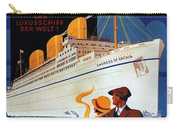 Canadian Pacific - Hamburg-berlin - Empress Of Britain - Retro Travel Poster - Vintage Poster Carry-all Pouch