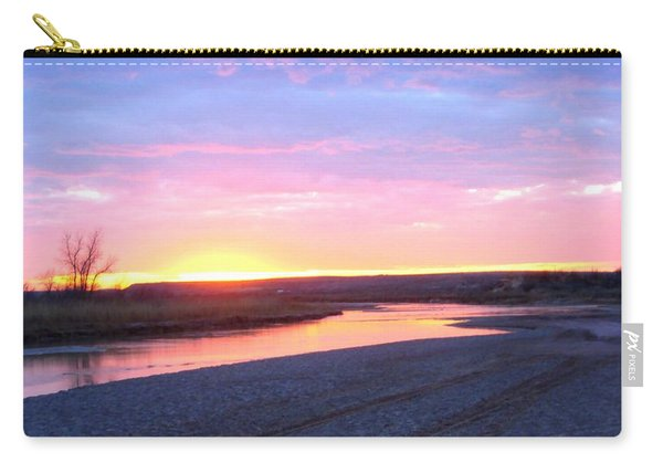 Canadian River Sunset Carry-all Pouch