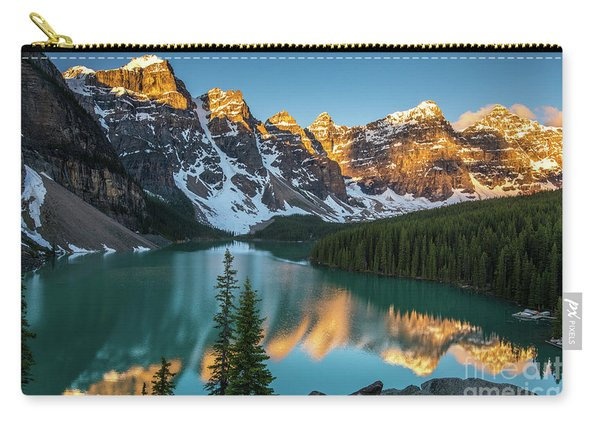 Canadian Rockies Golden Sunrise Light Reflection Carry-all Pouch