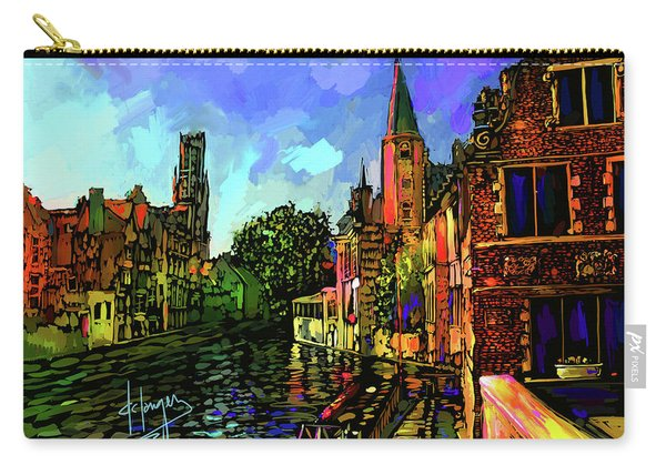Canal In Bruges Carry-all Pouch