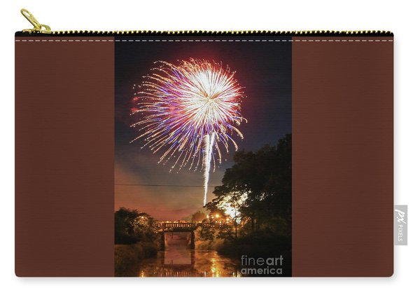 Canal View Of Fire Works Carry-all Pouch