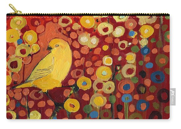 Canary In Red Carry-all Pouch