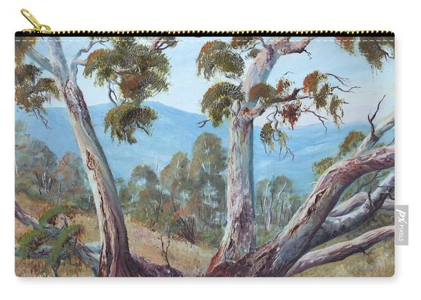 Carry-all Pouch featuring the painting Canberra Hills by Ryn Shell