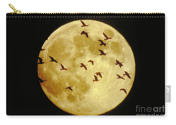 Canda Geese And Moon Carry-all Pouch