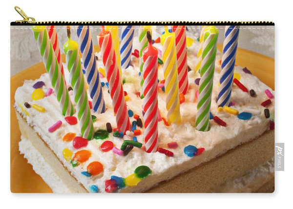 Candles On Birthday Cake Carry-all Pouch