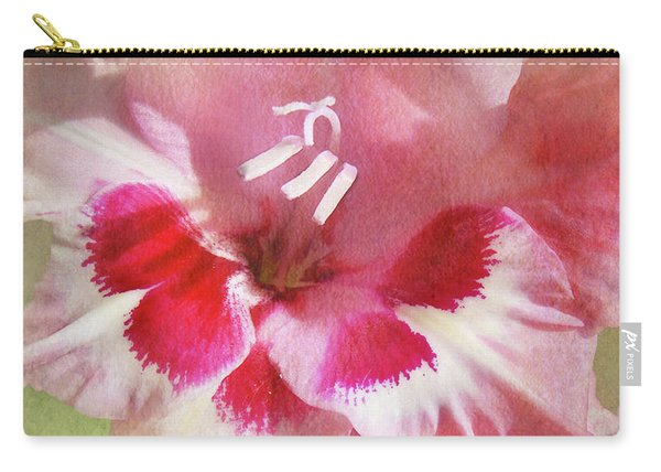 Candy Cane Gladiola Carry-all Pouch