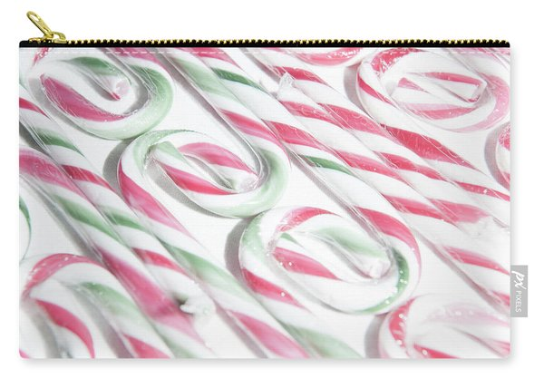 Candy Cane Swirls Carry-all Pouch